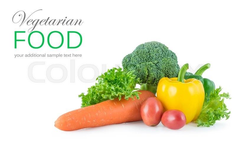 Stock image of 'Mix vegetables isolated on white background'