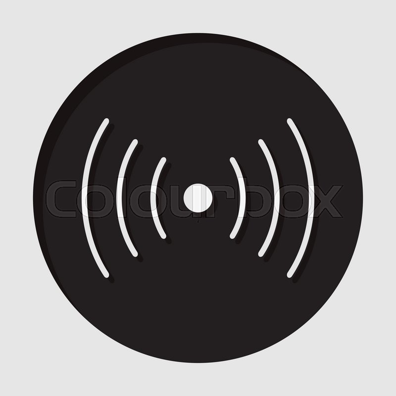 Information icon - dark circle with white sound or vibration symbol ...