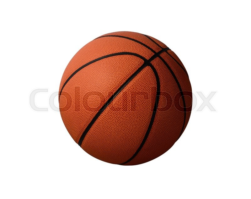 Stock image of 'Basketball  on  white background'