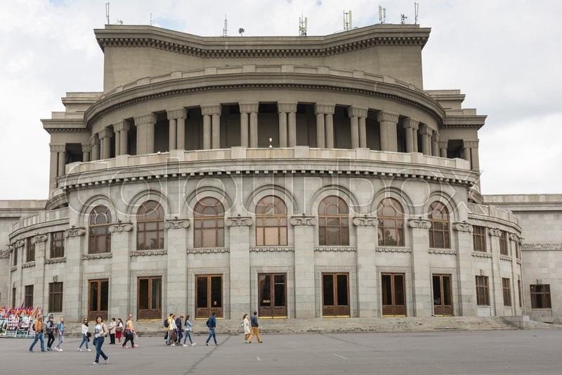 Editorial image of 'YEREVAN, ARMENIA - MAY 18, 2016: State Academic Opera and Ballet Theater of Armenia.'