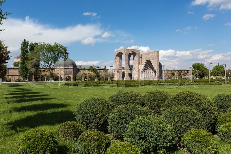 Editorial image of 'ECHMIADZIN, ARMENIA - MAY 02, 2016: Etchmiadzin monastery complex'