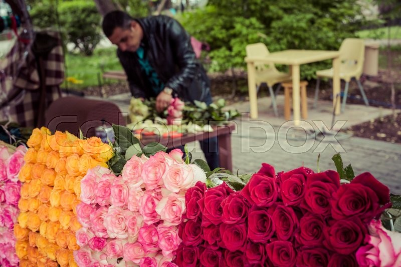 Editorial image of 'YEREVAN, ARMENIA - May 07, 2016: Flower shop'