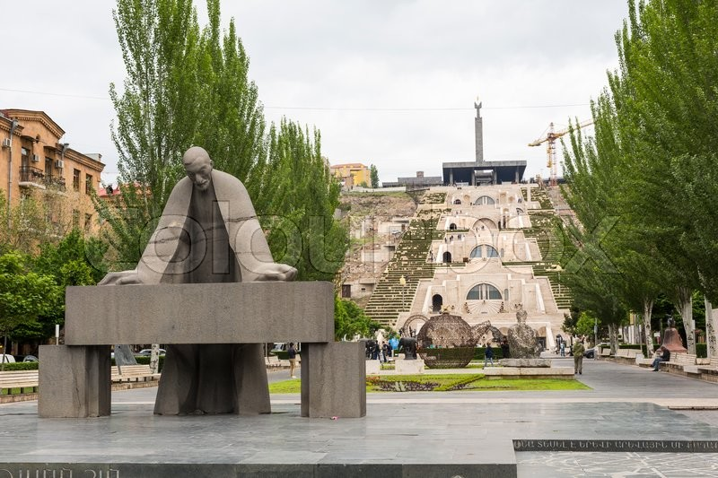 Editorial image of 'YEREVAN, ARMENIA - MAY 02, 2016: The Cascade is a giant stairway in Yerevan, Armenia.'
