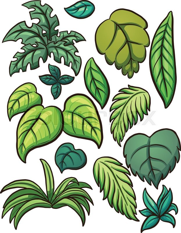 tropical leaves vector clip art illustration with simple gradients rh colourbox com leaves vector freepik leaves vector art