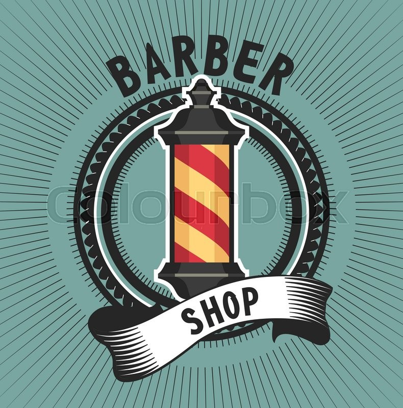 Vector Stylized Retro Emblem Barber Stock Vector