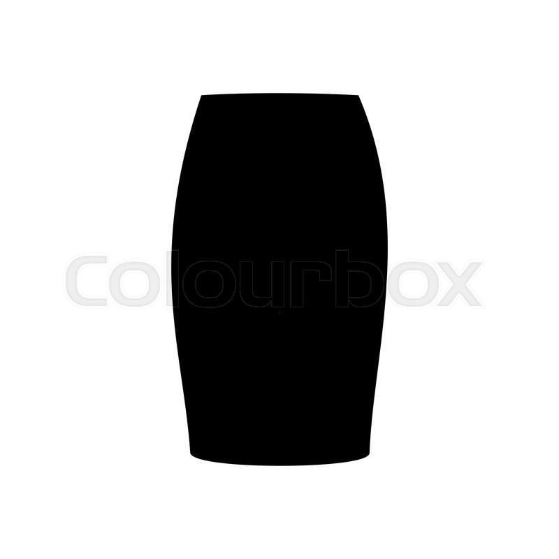 71e817533 Skirt vector illustration. Long skirt. ...   Stock vector   Colourbox