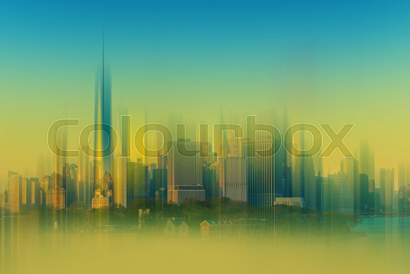 Stock image of 'Cityscape Abstract Background. New York City Backdrop Abstraction Blurs.'