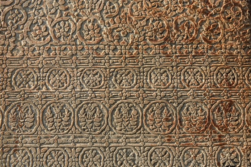 Stock image of 'Beautiful ornament on the wall in the temple of Cambodia'