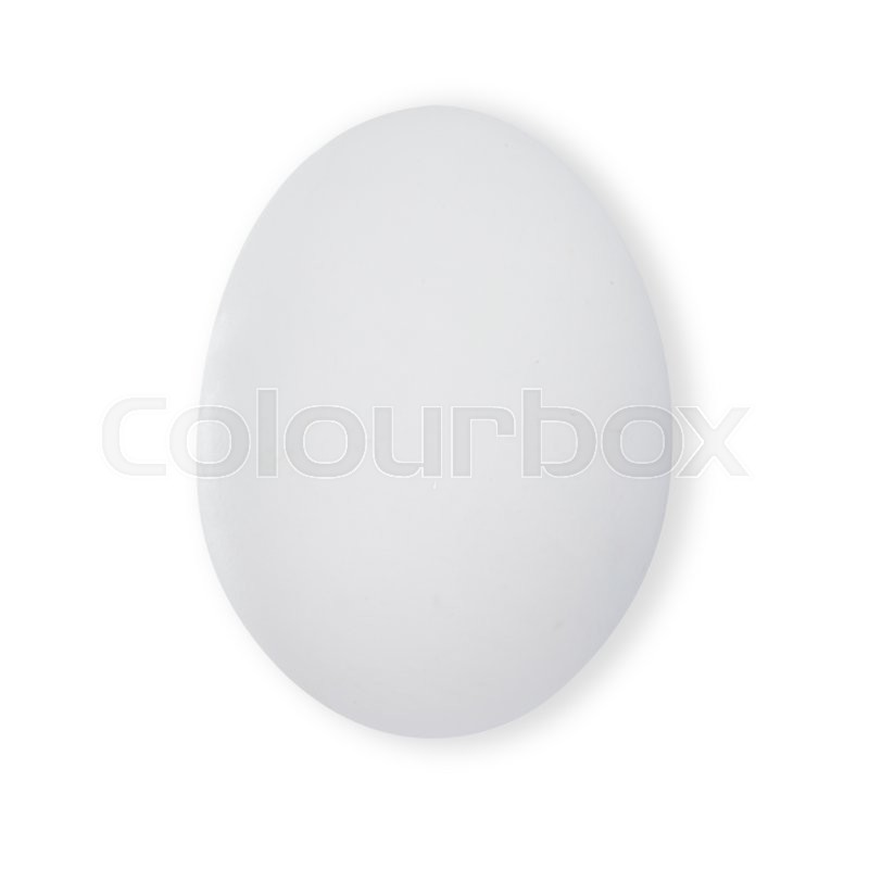 Stock image of 'One egg isolated on a white background'