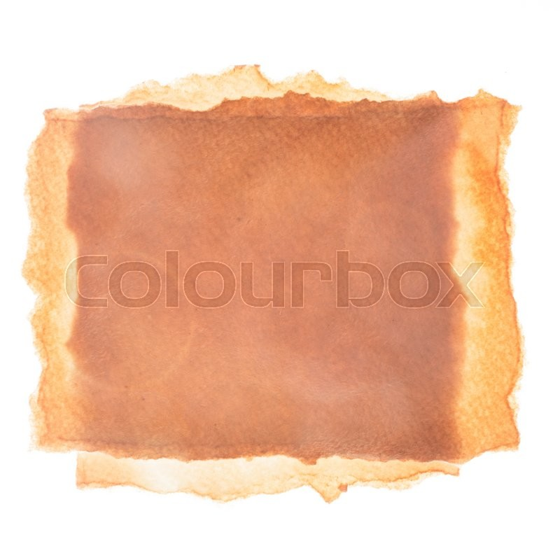Stock image of 'Empty aged paper isolated on white background'