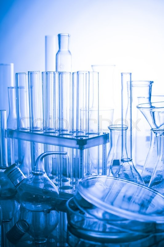 Stock image of 'Laboratory glass for chemistry or medicine for research'