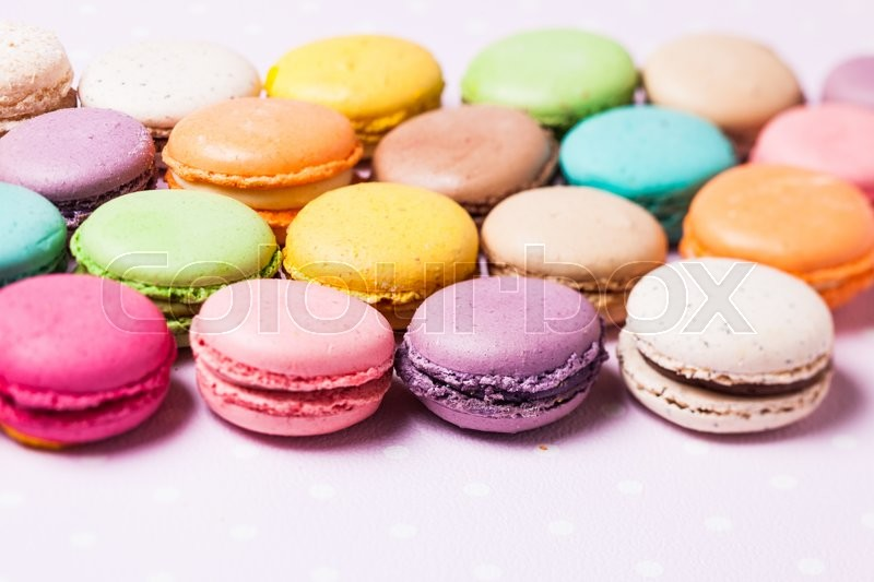Stock image of 'Colorful macaroons - french dessert as a background'