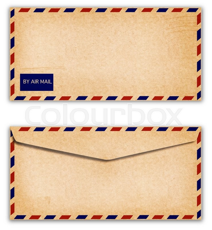 Stock image of 'Old Envelope with grunge on white background'