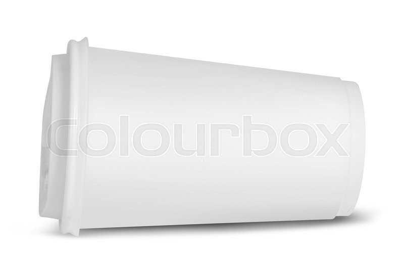 Stock image of 'Paper glass is on white background'