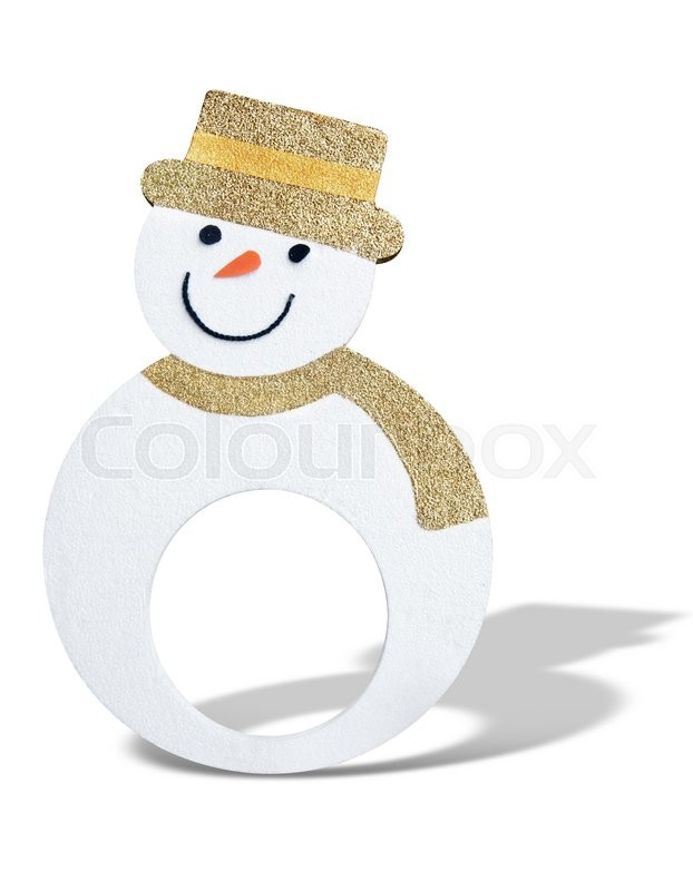 Stock image of 'Snowman isolated on white '