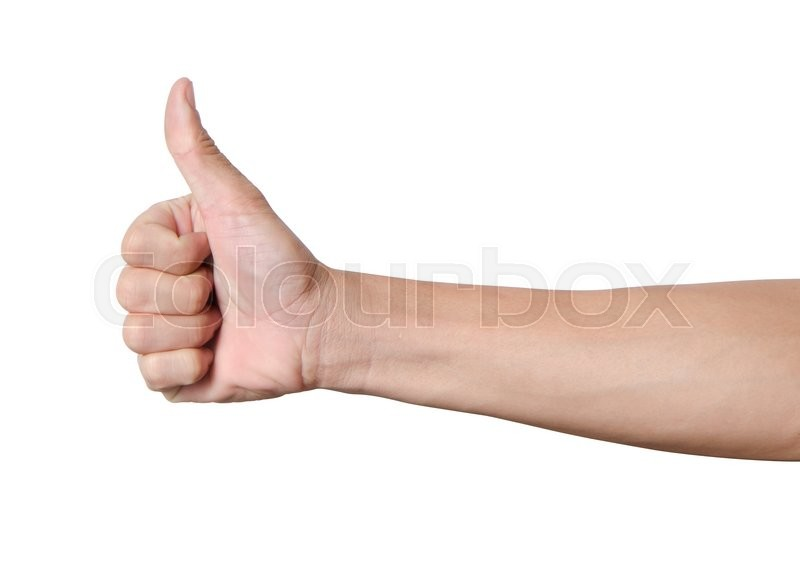 Stock image of 'Male hand showing a ok hand sign with clipping path'