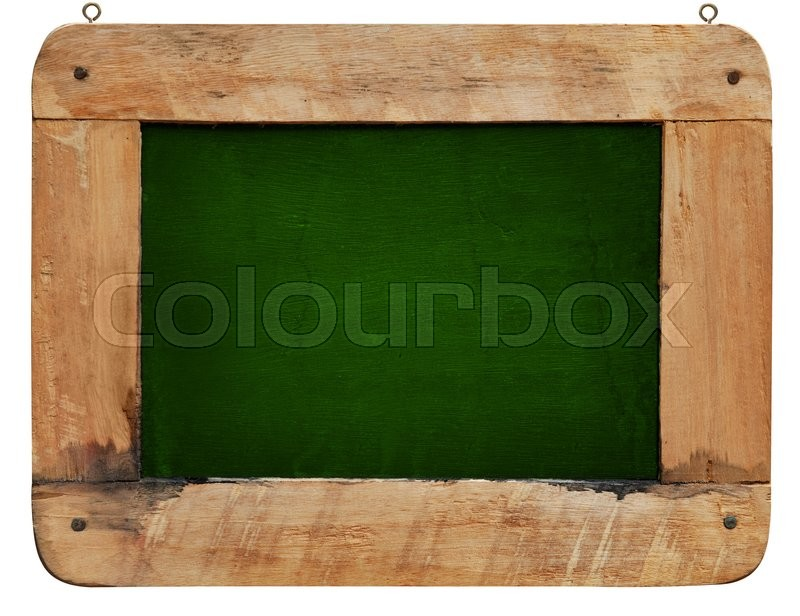 Stock image of 'Wood frame and chalkboard'