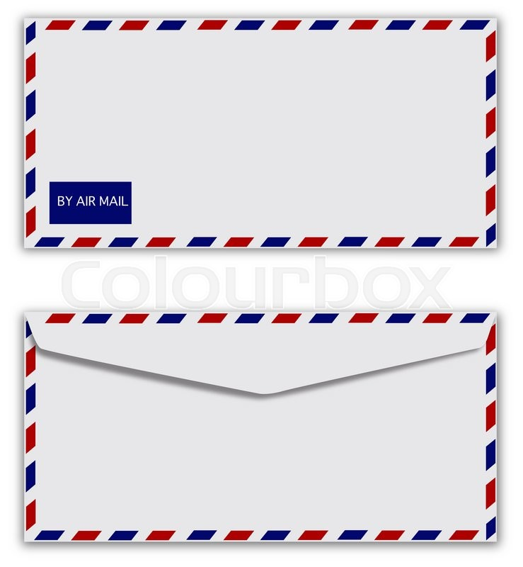 Stock image of 'air mail envelope isolate '
