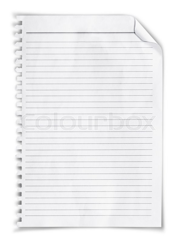Stock image of 'White note papers with curl'