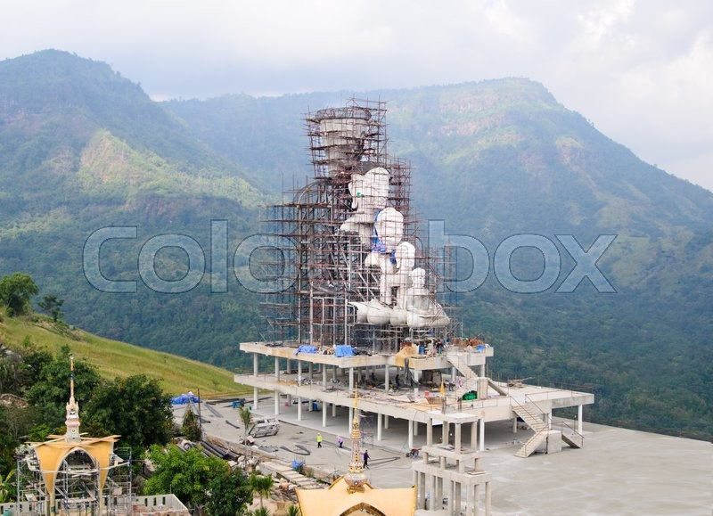 Stock image of 'Construction site temple'