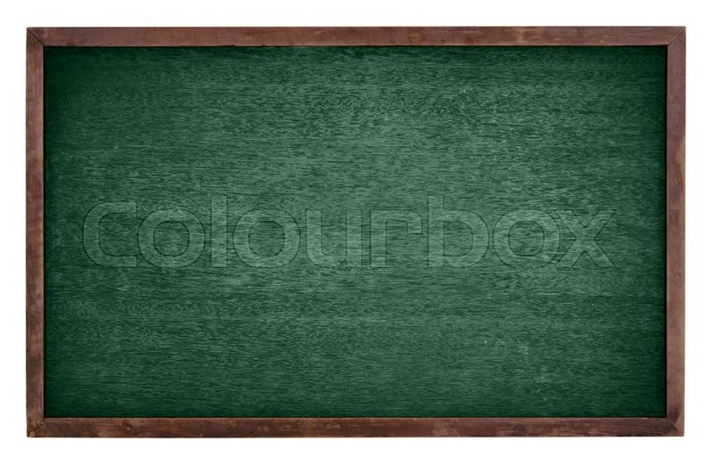 Stock image of 'Green chalk Board isolate on white background'