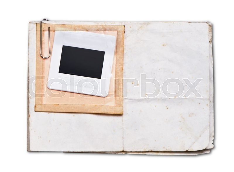 Stock image of 'Old papers with white frame '
