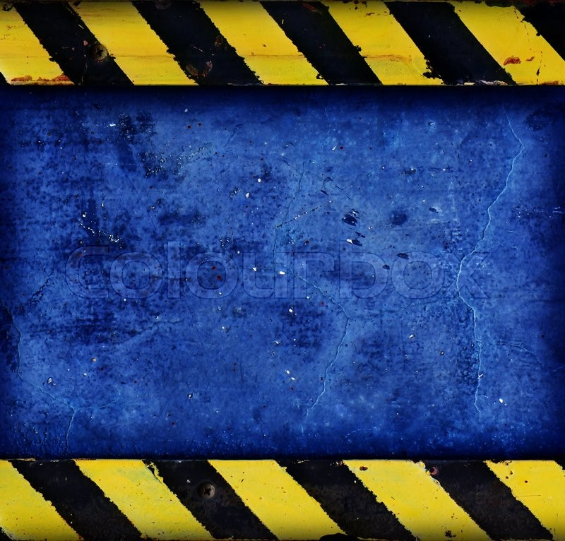 Stock image of 'Concrete with warning stripe,use as background'