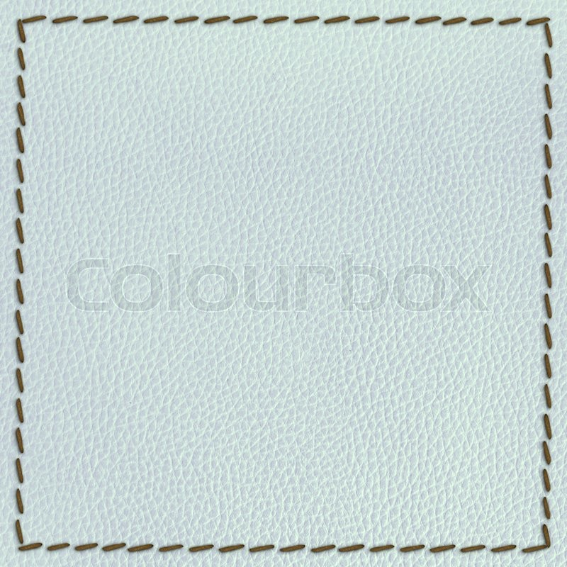 Stock image of 'Leather texture background with seam'