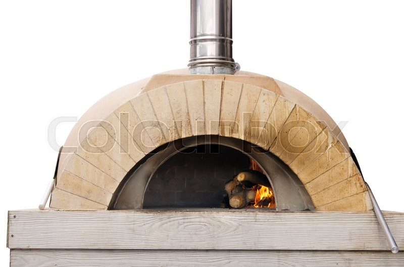 Stock image of 'An outdoor pizza oven'
