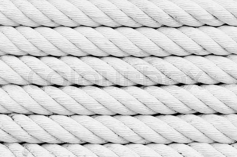 Stock image of 'Old white ropes'