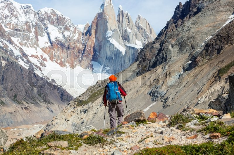 Stock Bild von 'hervorragend, backpacker, backpackerin'