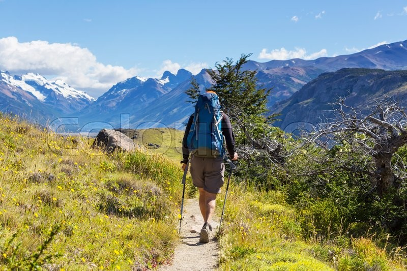 Stock image of 'Hike in Patagonia'