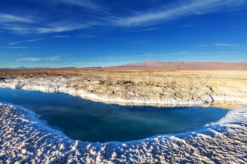 Stock image of 'Ojo del Mar in a salt desert in the Jujuy Province, Argentina'