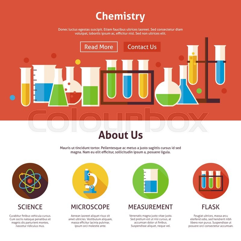 Chemistry science flat web design template vector illustration for chemistry science flat web design template vector illustration for website banner and landing page education and learning with icons modern design ccuart Gallery