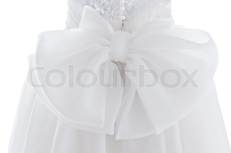 Stock image of 'Back of dress bride '