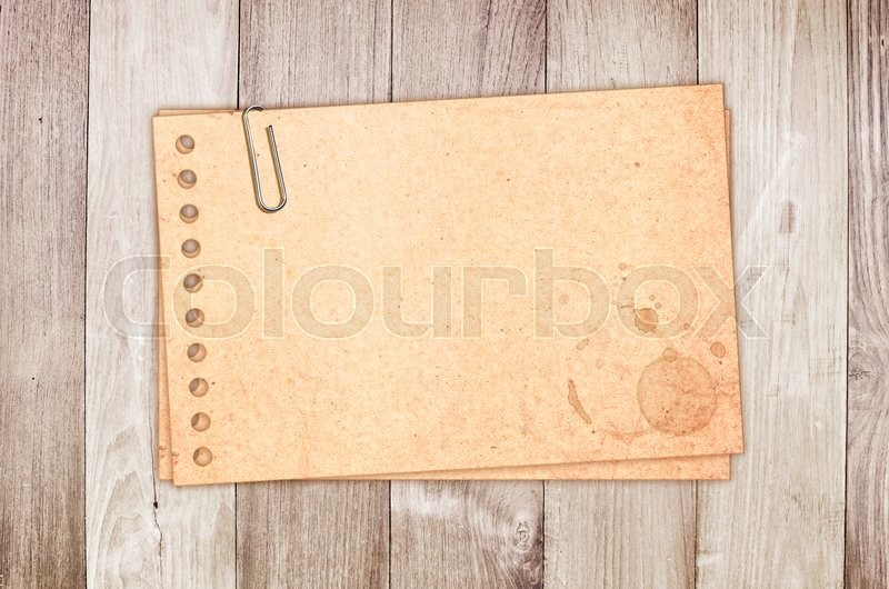 Stock image of 'Vintage card on wooden planks\'