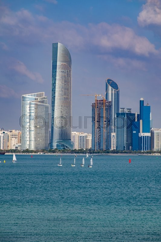 Stock image of 'View of Abu Dhabi in the United Arab Emirates'