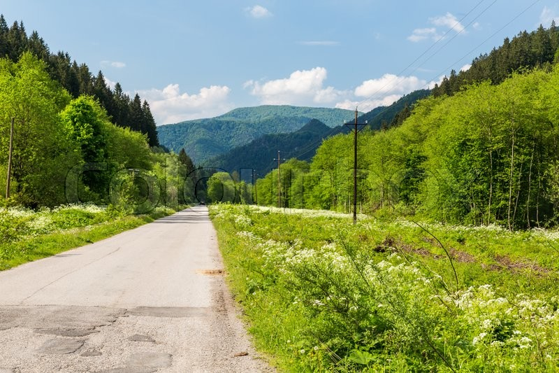 Stock image of 'View of the nature in Lubochna valley near Ruzomberok in Slovakia'