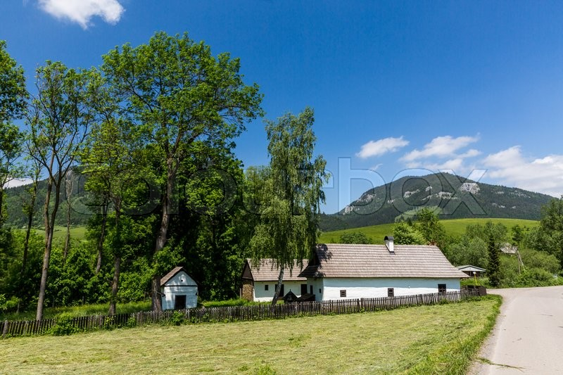 Stock image of 'View of the Nature between the village Malatina and Bukovina in Slovakia'
