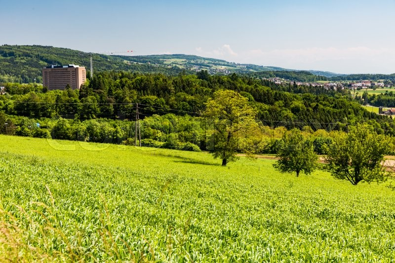Stock image of 'View to the nature around the Hospital Baden. Switzerland on May 18, 2015'