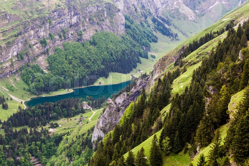 Stock image of 'Views of Ebenalp in the small canton of  Appenzell in Switzerland in May 2015'