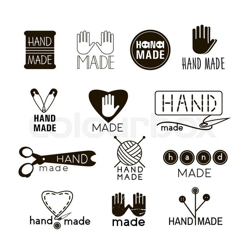 Handmade Black And Thin Line Icons ...