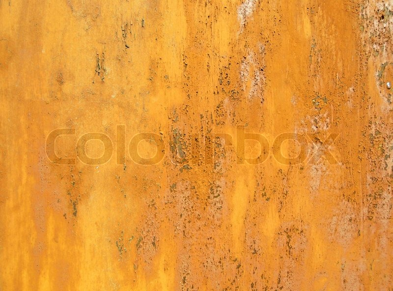 Texture Of An Rusty Metal Painted In Yellow Color