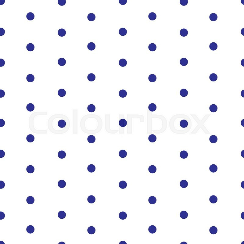 Pattern with dark blue polka dots on white background ...