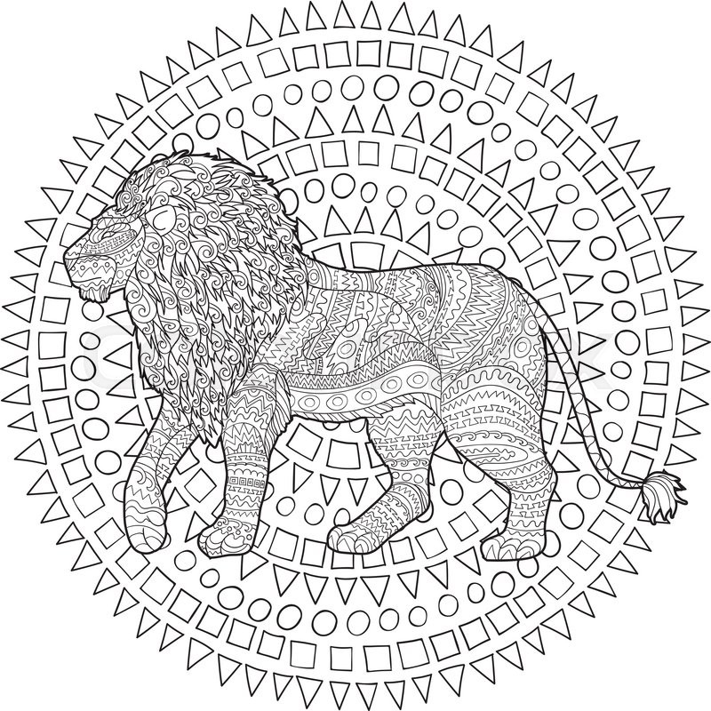 Adult coloring page for antistress
