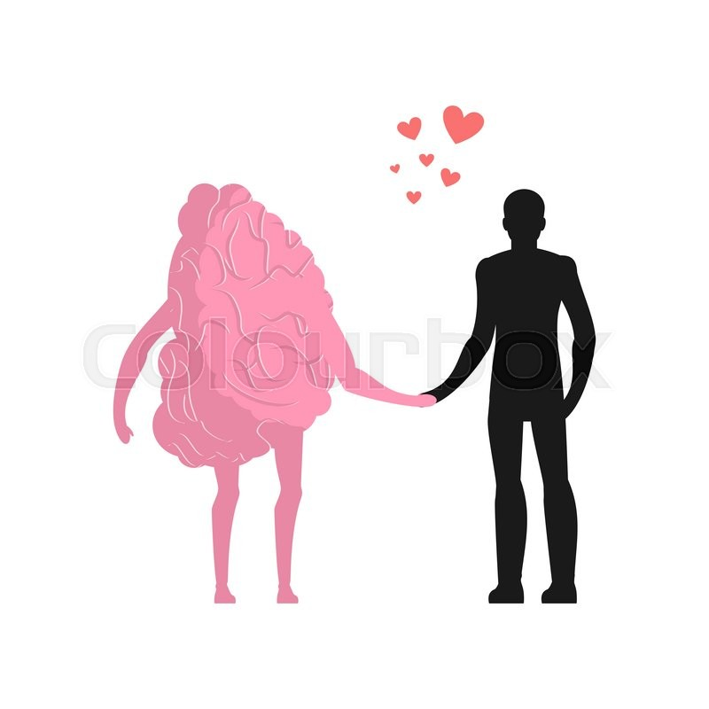 Love in human brain man and mind lovers holding hands romantic love in human brain man and mind lovers holding hands romantic illustration vector thecheapjerseys Choice Image