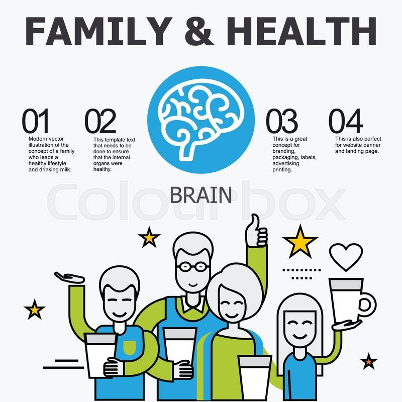 Internal organs - brain. Family and a healthy lifestyle. Medical ...
