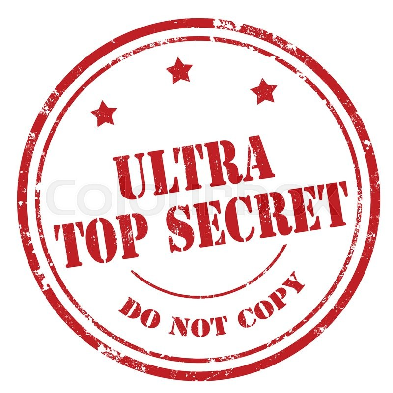 Ultra Top Secret Stamp