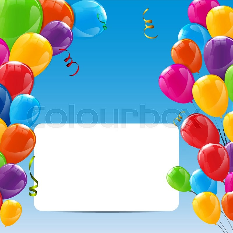 Color Glossy Happy Birthday Balloons
