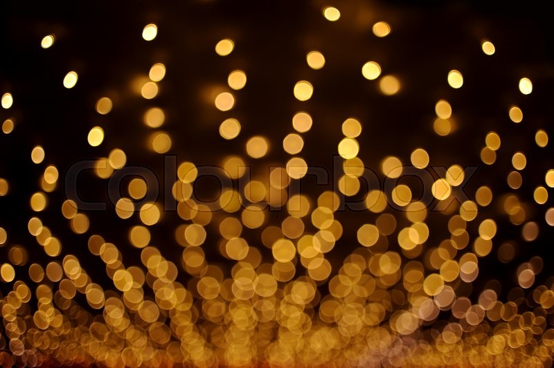 Stock image of 'Yellow bokeh abstract light backgrounds'